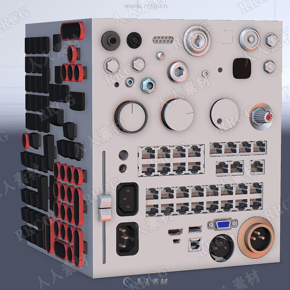 250组Abkit插入式模型组件Blender插件V1.1.5版