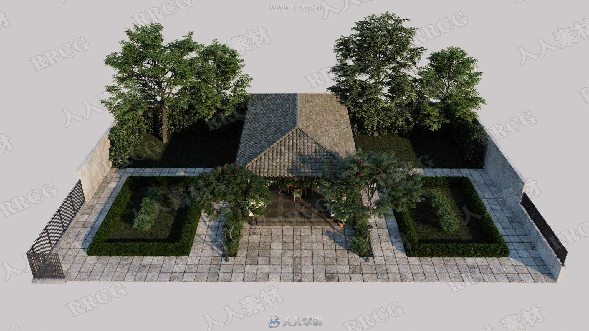 20组高品质花园庭院植物家具相关3D模型合集 Evermotion