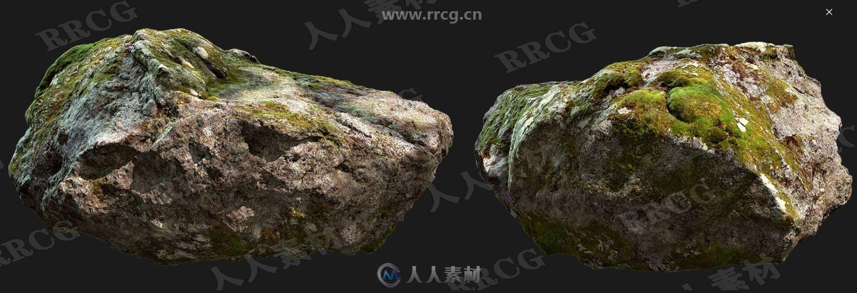 60组4K8K高精度森林藓岩石树叶蘑菇等扫描纹理贴图合集