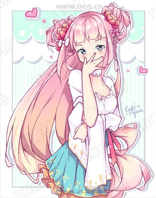 D站kuri-nyann画师二次元可爱大眼清纯美少女动漫人物原画插画集