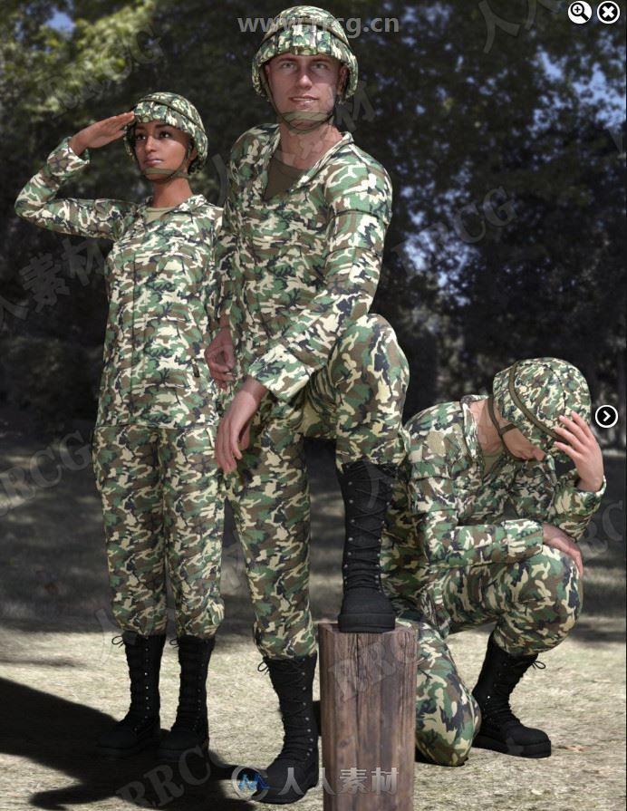 军事特种兵荣誉与职务必备姿势3D模型合集