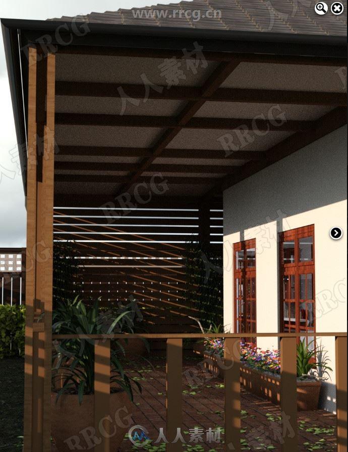 设备齐全休闲度假公寓热带环境设施3D模型合集