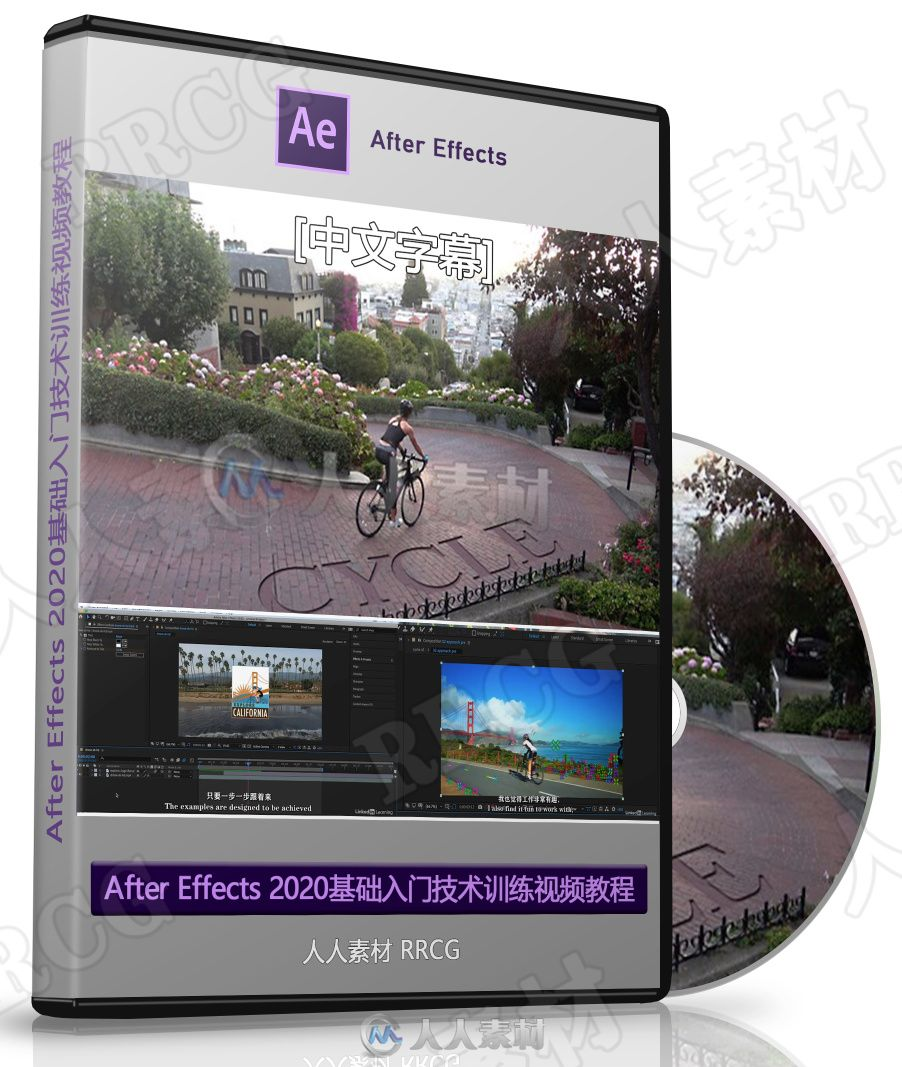【中文字幕】After Effects 2020基础入门技术训练视频教程