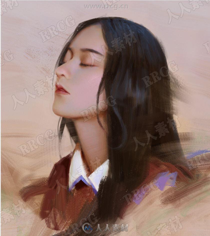 Peter国内画师真实唯美人物肖像原画插画集