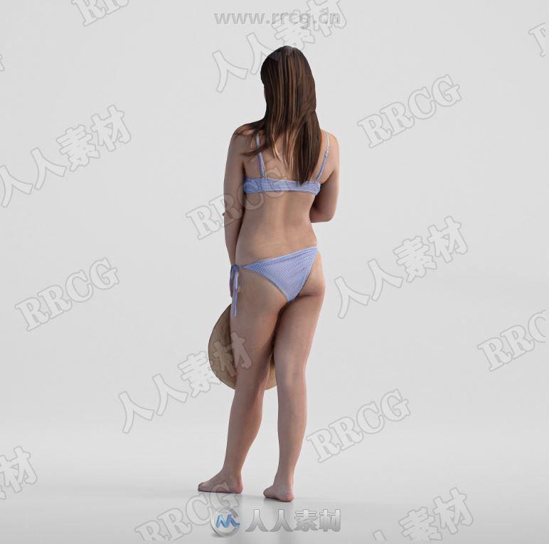 凯莉女性摄影测量扫描捕捉3D模型