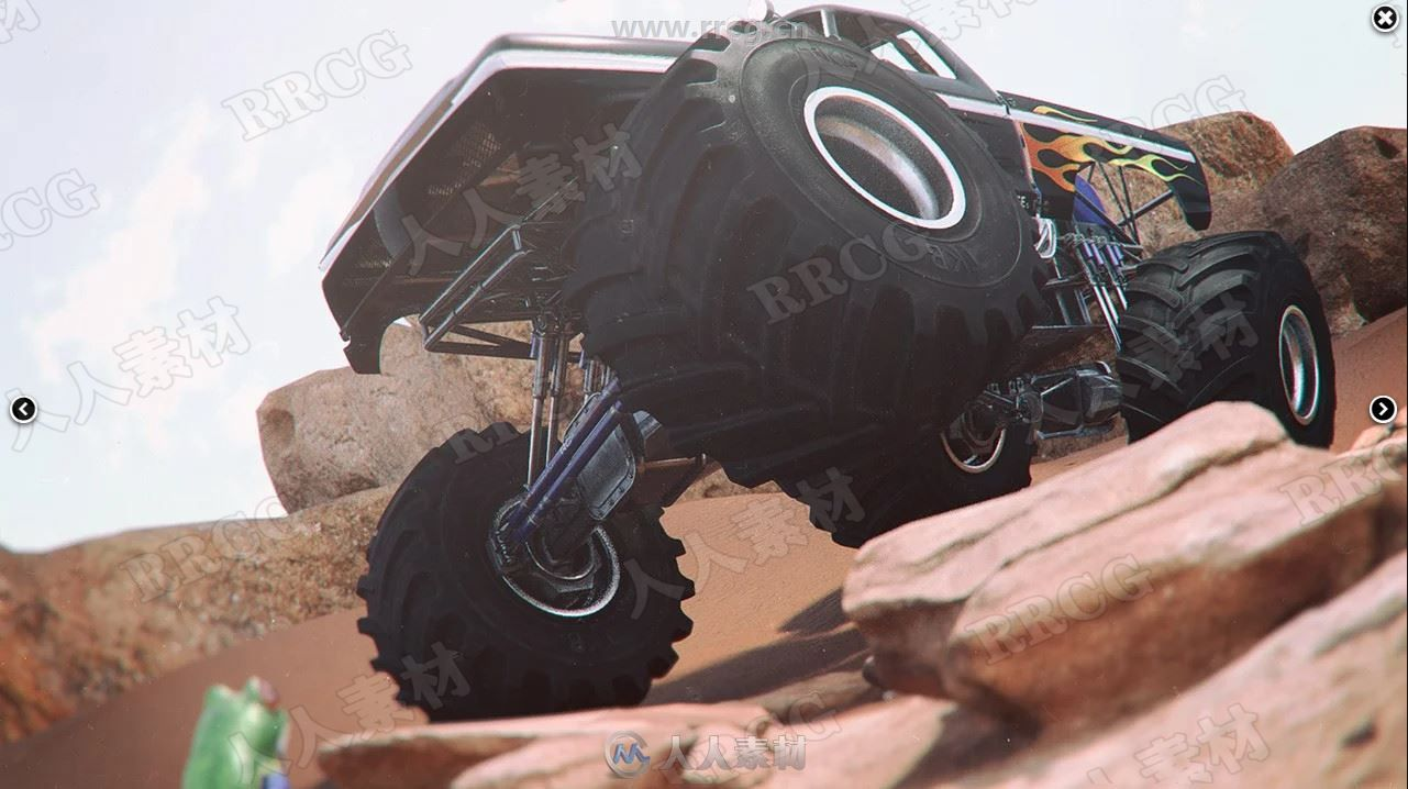 户外机械大轮胎越野车辆3D模型合集