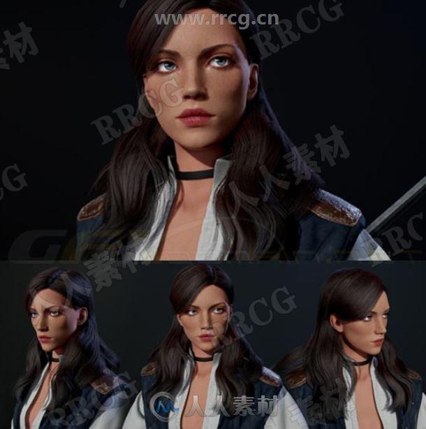 精致角色卡利斯塔女性战士3D模型