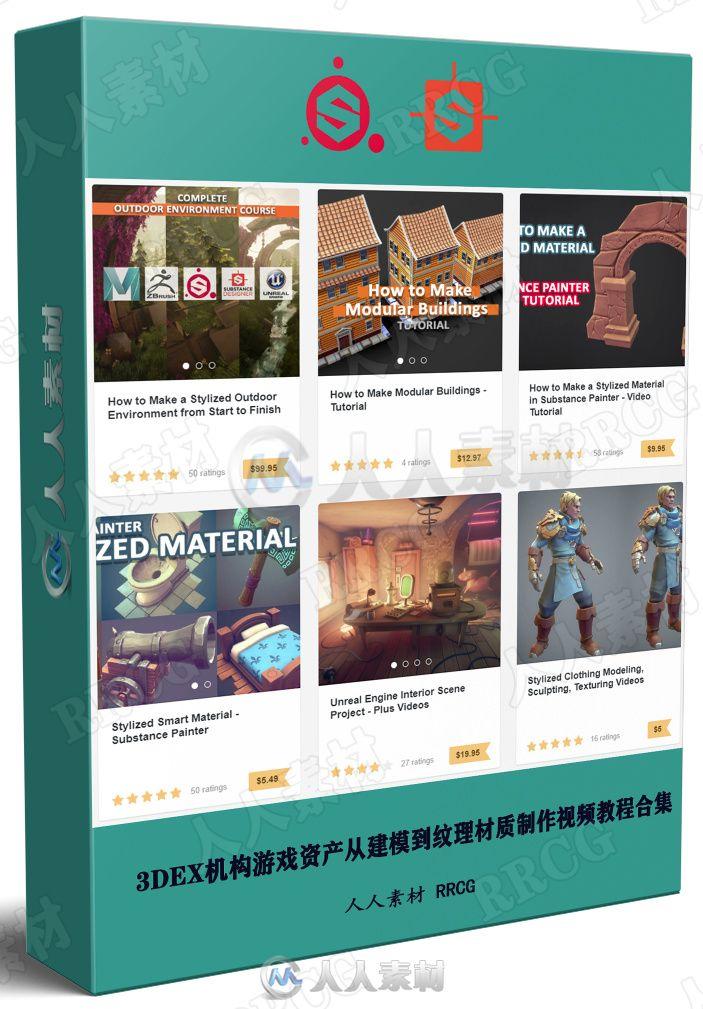 3DEX机构游戏资产从建模到纹理材质制作视频教程合集第一季