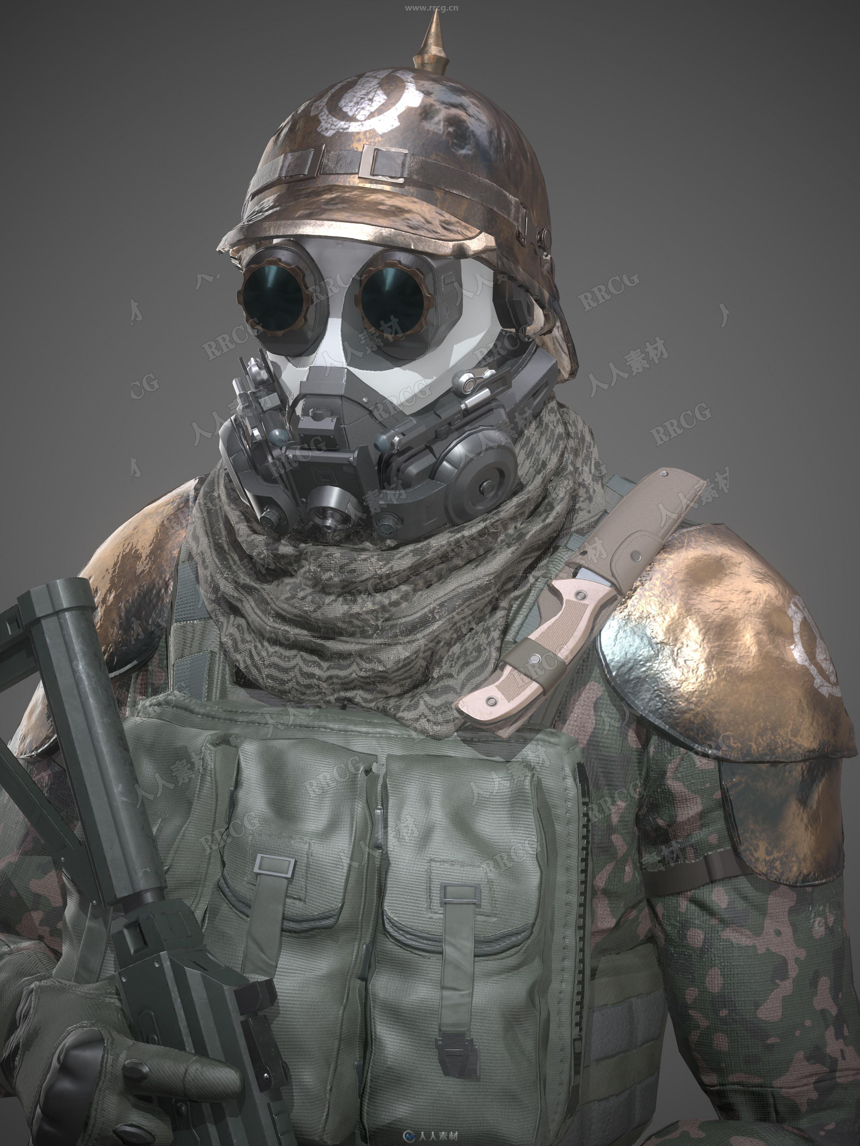 未来反乌托邦步兵战士3D模型与贴图