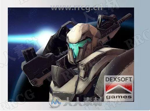 立体未来科幻机械士兵机器人角色Unity游戏素材资源