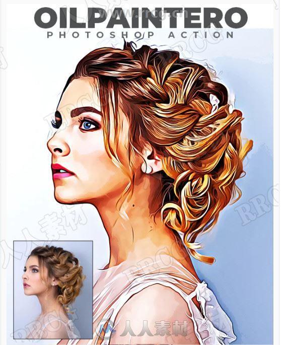 颜色对比明显艳丽鲜亮写实油画艺术图像处理特效PS动作