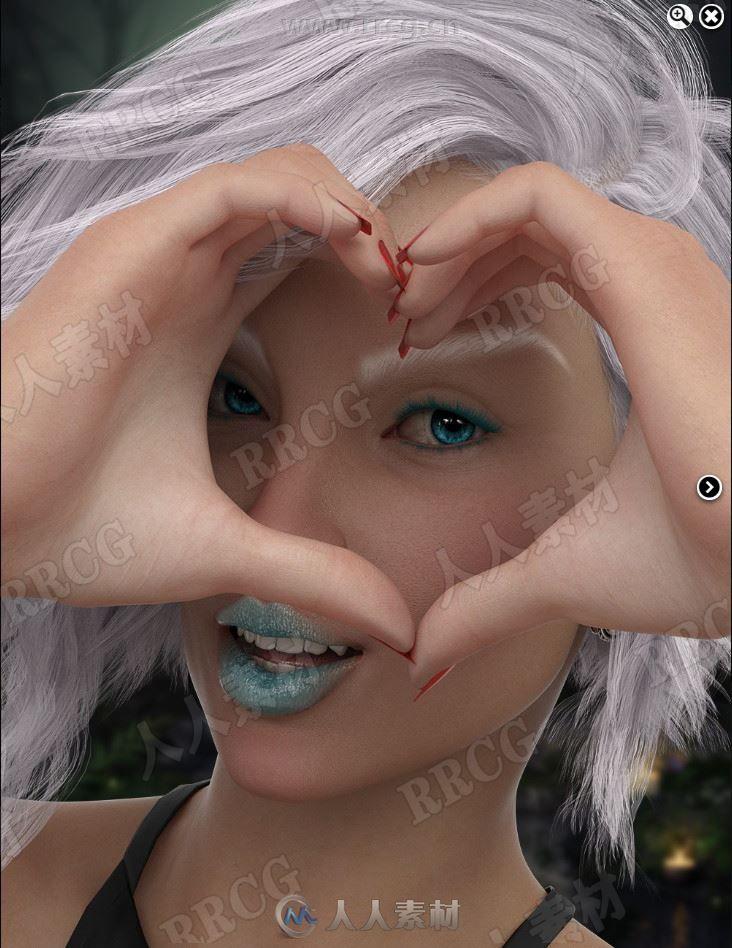 夸张妆容美丽精灵魔女3D模型合集