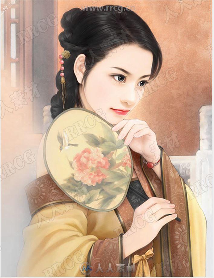 中国古代风韵水彩画人物场景原画插画集