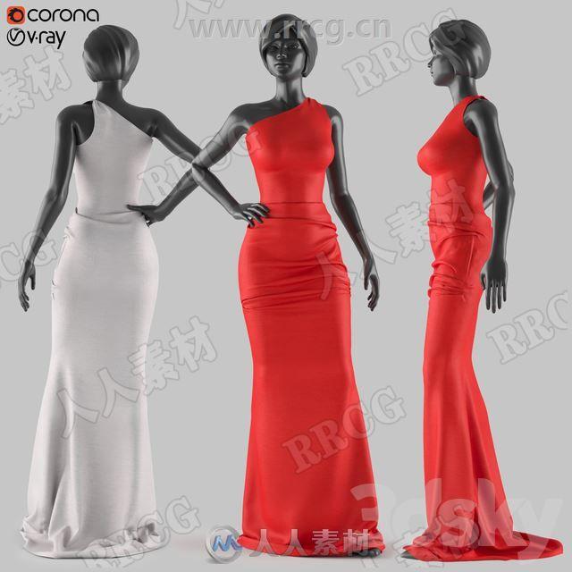 女性礼服连衣裙长裙服饰3D模型