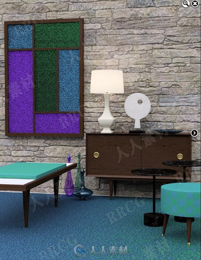 现代清凉室内家具装饰品3D模型合集