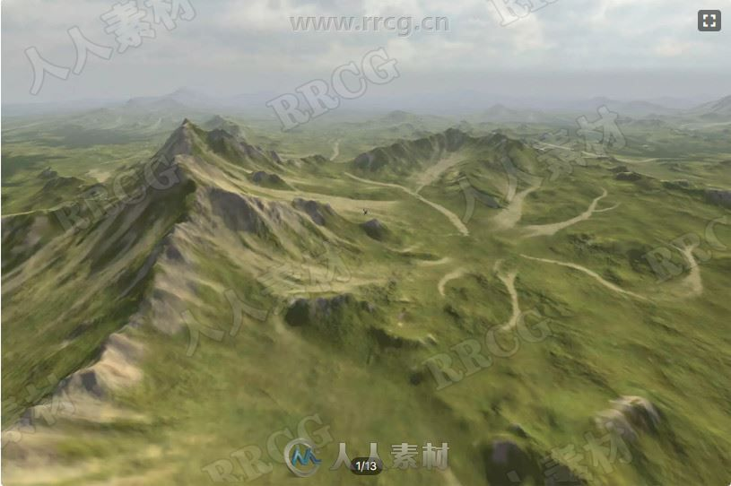 高山山坡水蚀地形工具Unity游戏素材资源