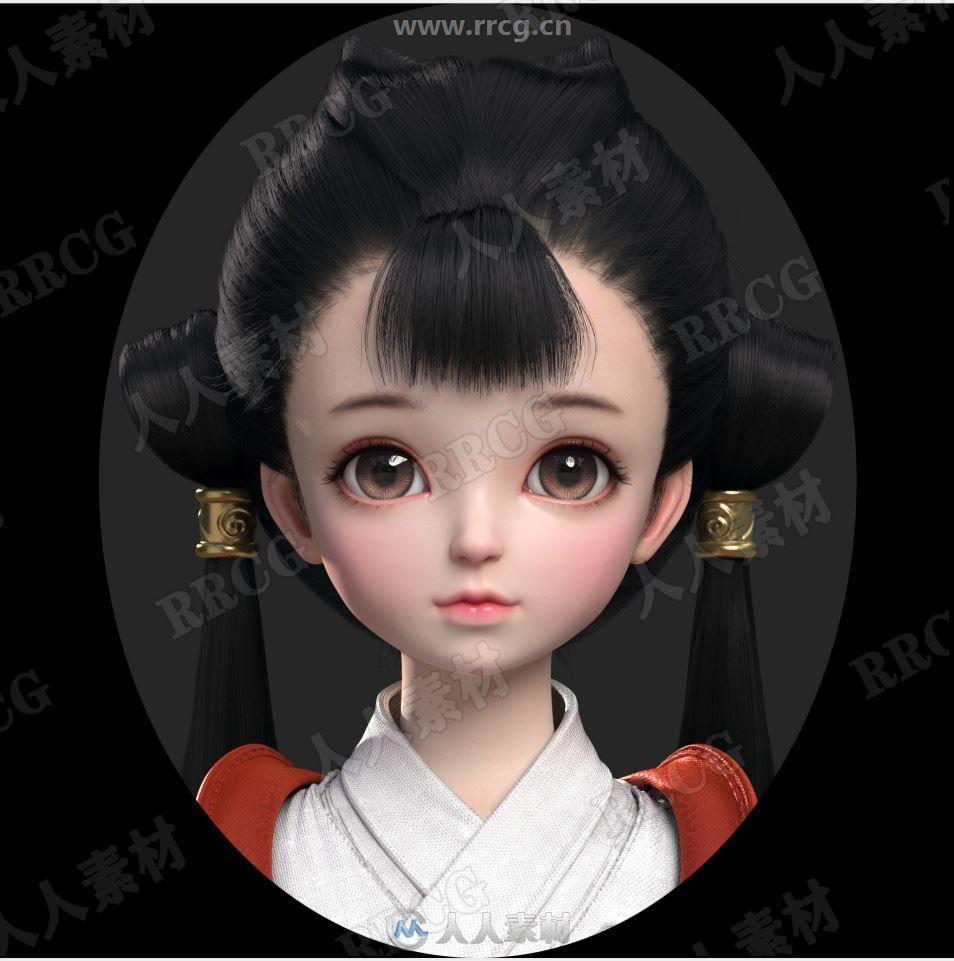 3D高清脸部女性角色精品参考原画插画集