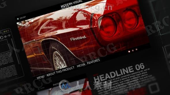 电影视频样式科技感切换开场展示动画AE模板