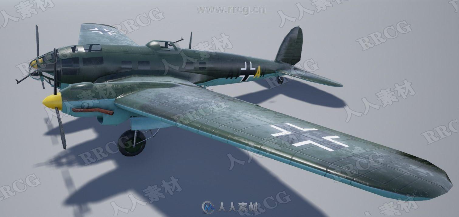 二战德国轰炸机战机飞机高质量3D模型