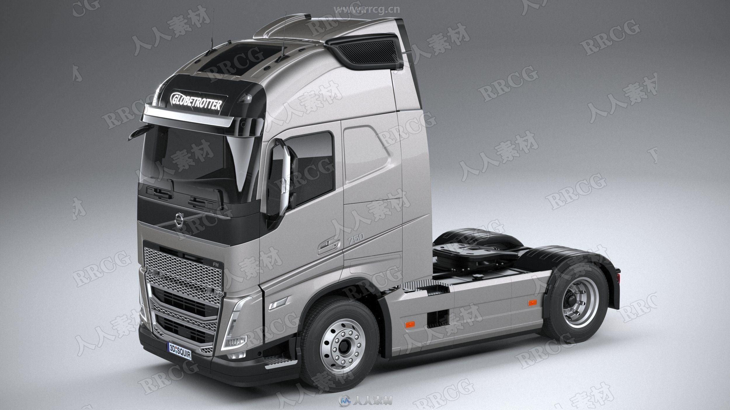 沃尔沃重卡牵引车Volvo FH16真实汽车高质量3D模型