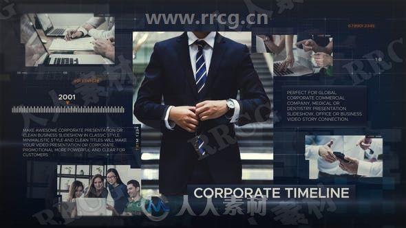 商务企业业务推广展示动画AE模板