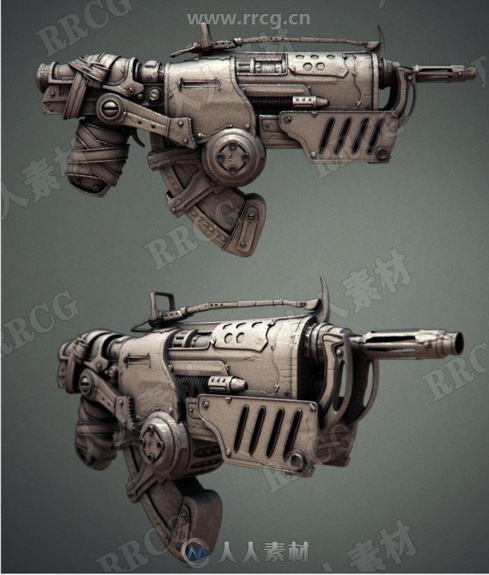 科幻写实类枪械高清3D画集