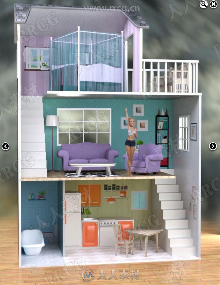 女孩过家家虚拟温馨闺房3D模型合集