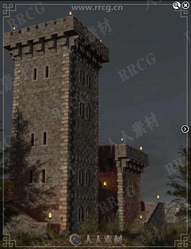 希望之塔童话古建筑场景3D模型合集