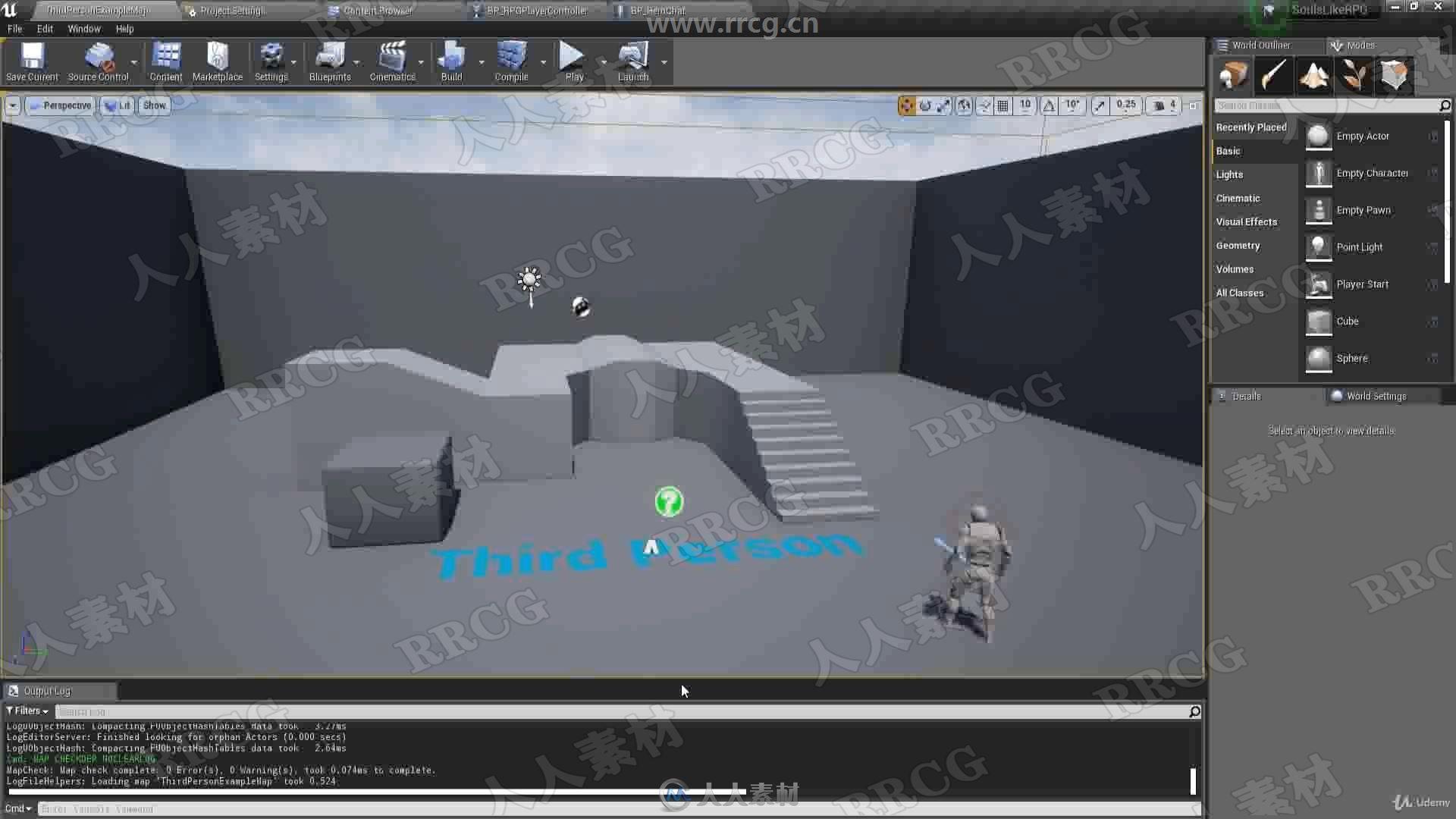 Unreal Engine角色扮演RPG网络游戏完整制作工作流程视频教程