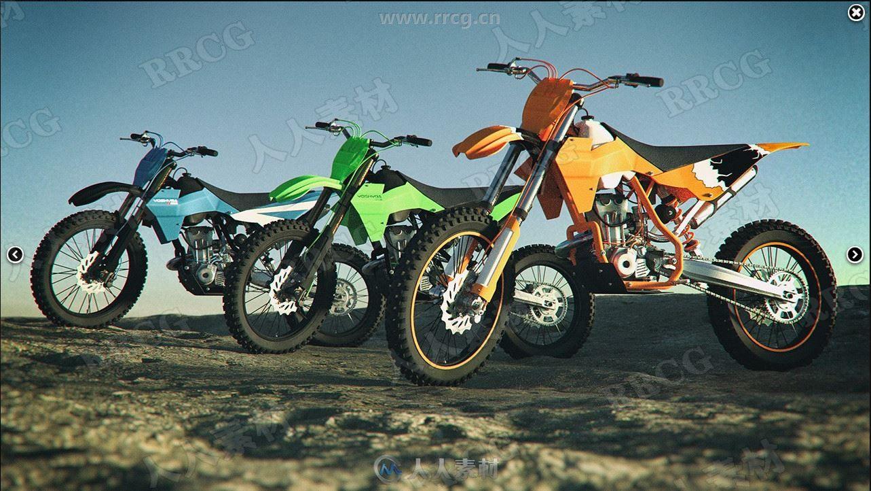 酷炫越野摩托车3D模型合集