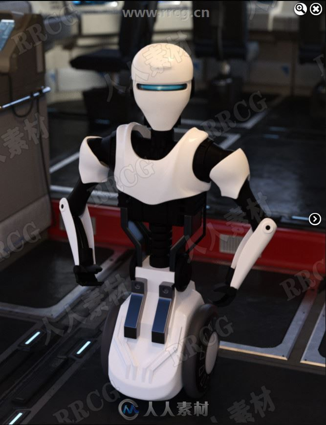服务性质先进多功能机器人3D模型合集