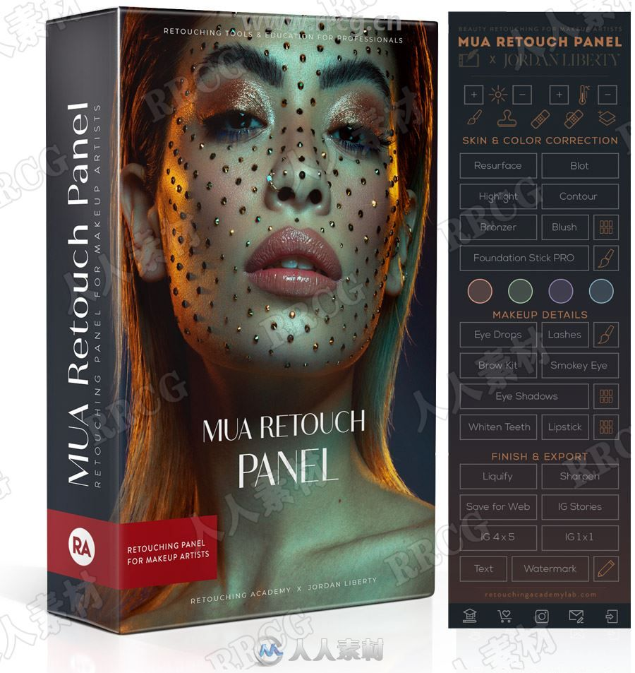 MUA Retouch Panel肖像皮肤美妆修饰PS插件 附教程