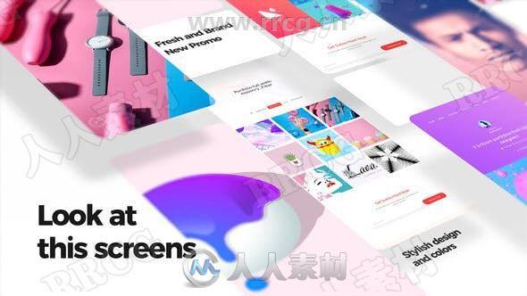 不同型号手机宣传展示动画AE模板