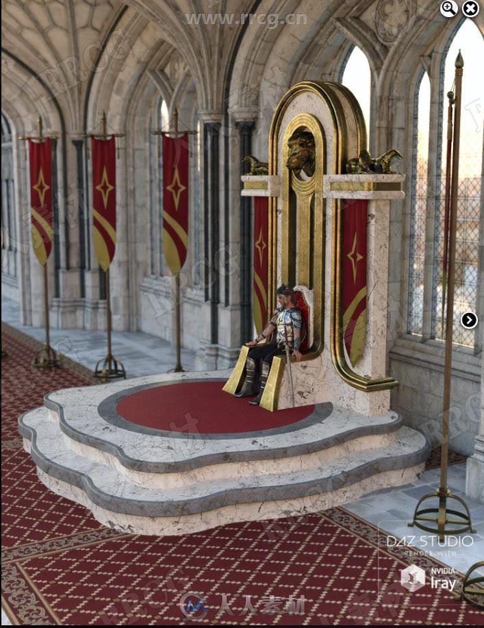 古装童话奢华王室宝座3D模型合集