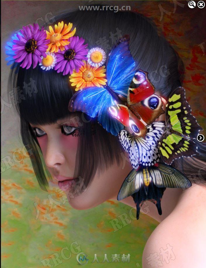 大自然景象蝴蝶鲜花等3D模型合集