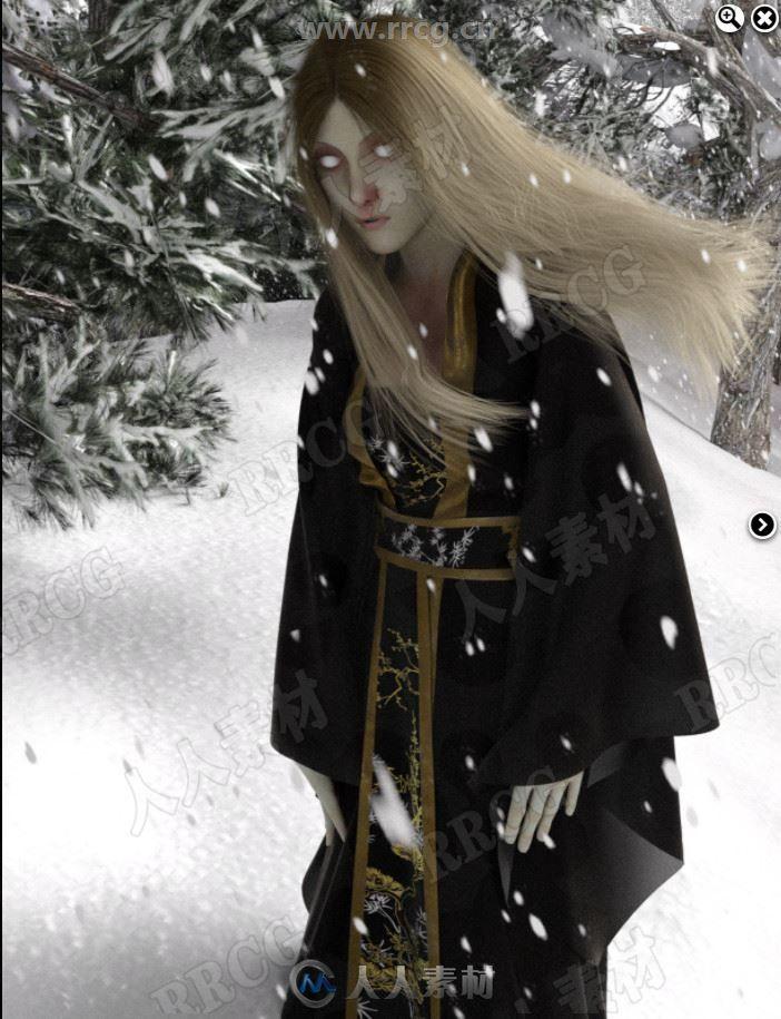 暴风中日系恐怖女性角色3D模型合集
