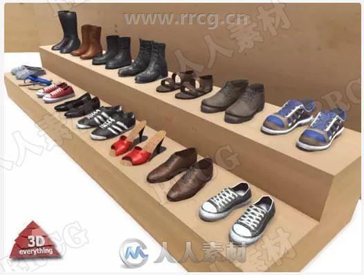 鞋类服饰3D道具Unity游戏素材资源