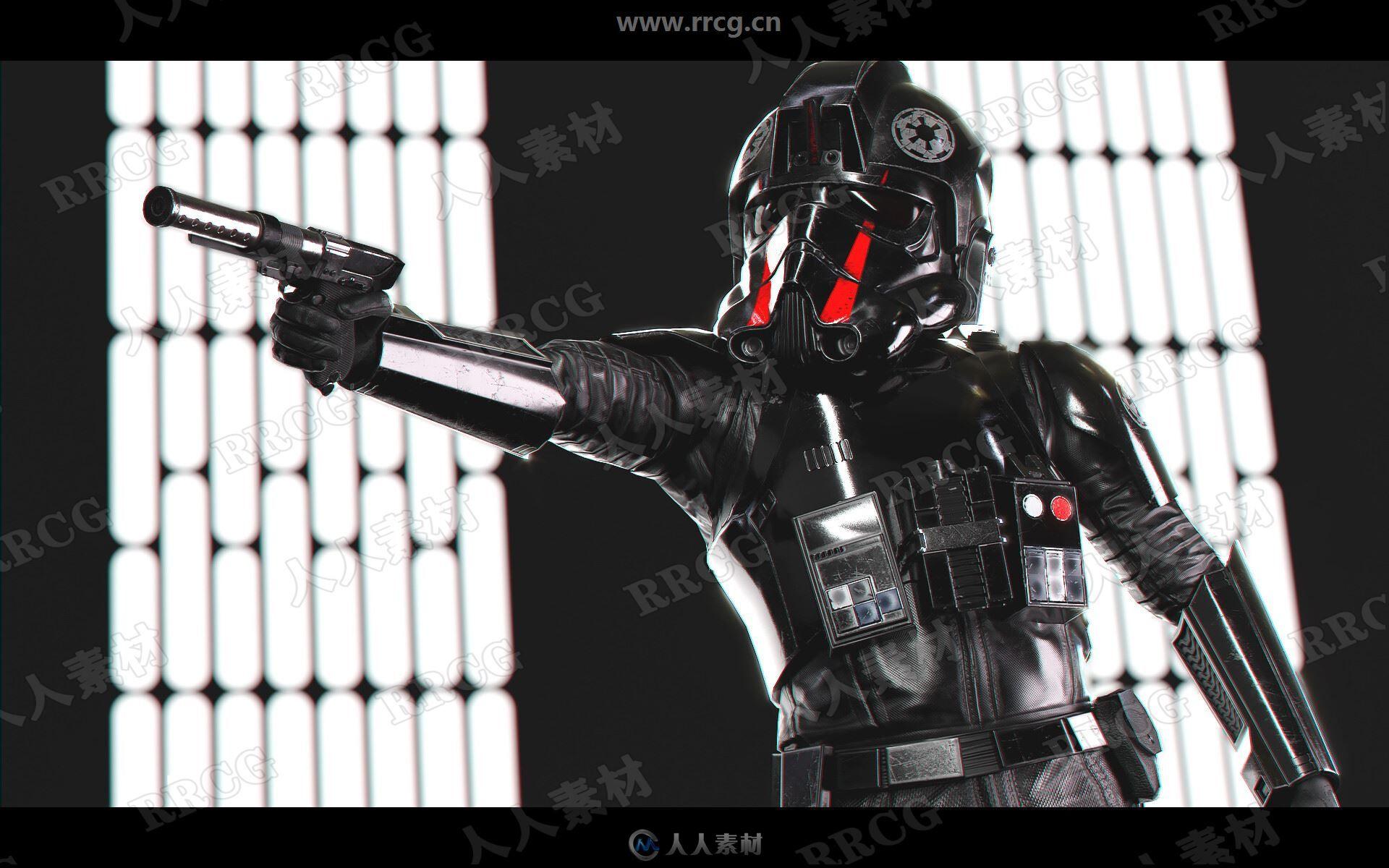 星球大战帝国飞行员人物角色高质量3D模型