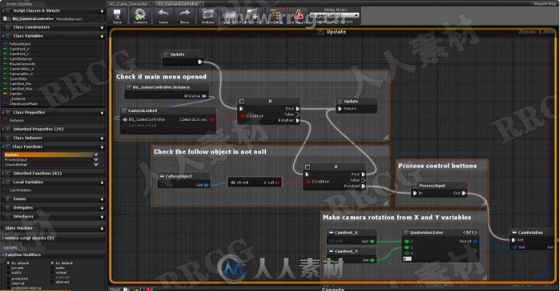 生成和调试可视化编程插件脚本Unity游戏素材资源