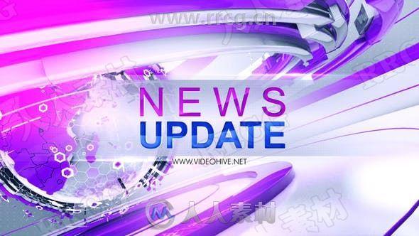 24小时世界新闻主题背景LOGO动画演绎AE模板