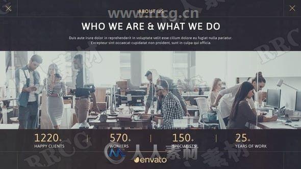 商务公司业务研究推广展示动画AE模板