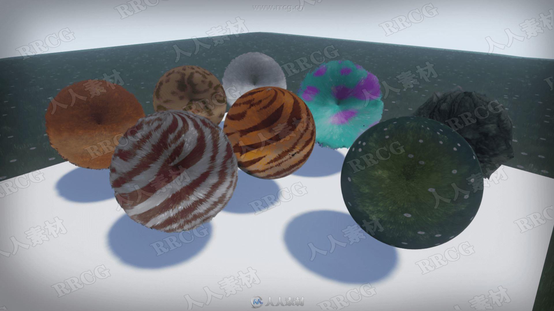 高清保真皮草毛发着色器UE4游戏素材资源