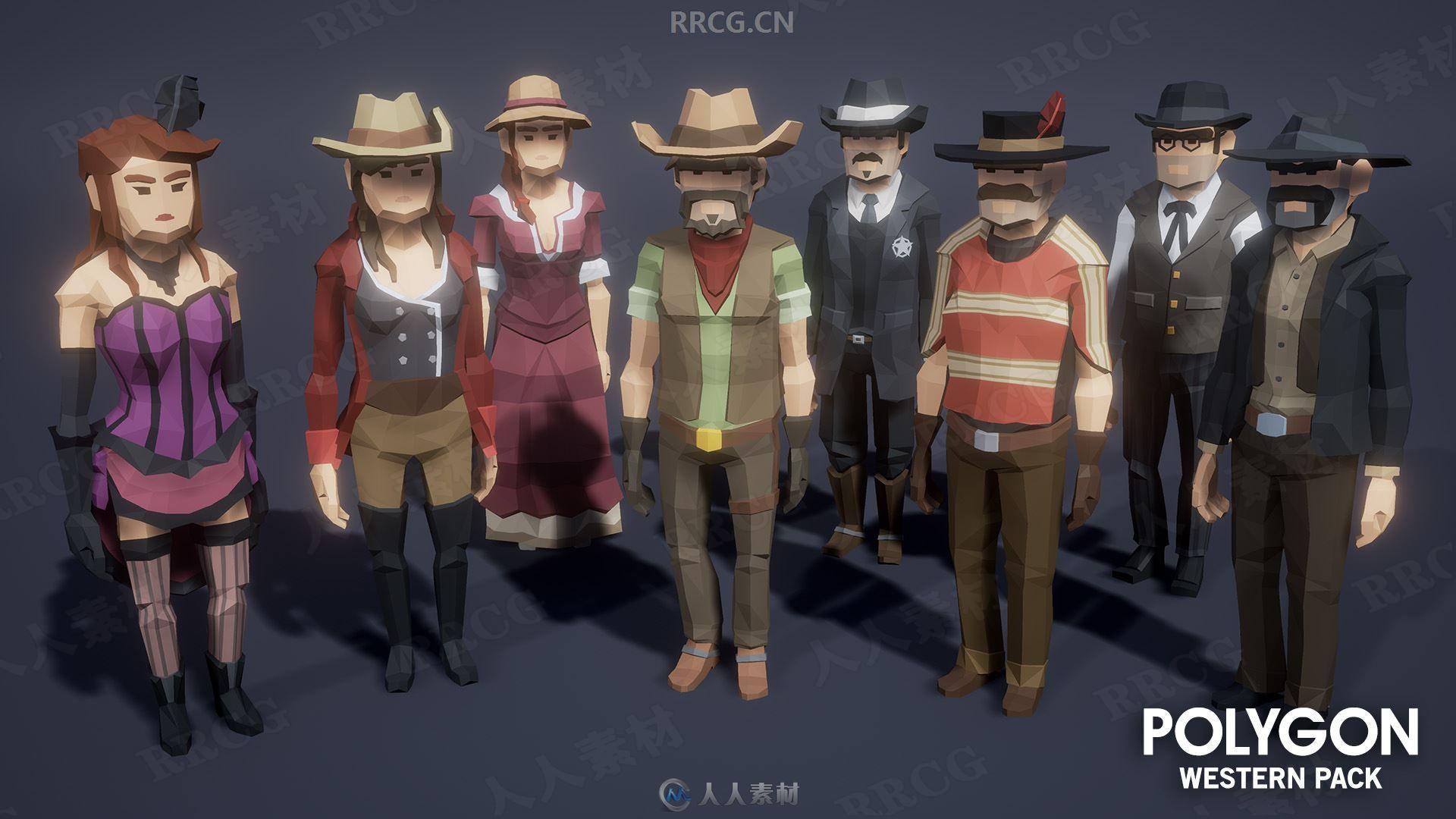 卡通环境角色模块西方主题UE4游戏素材资源