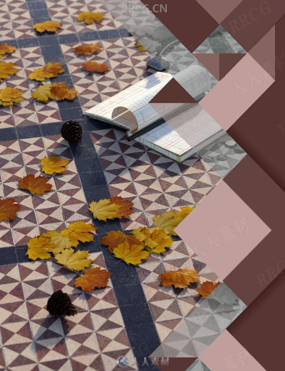中世纪教堂地砖着色器3D模型合集