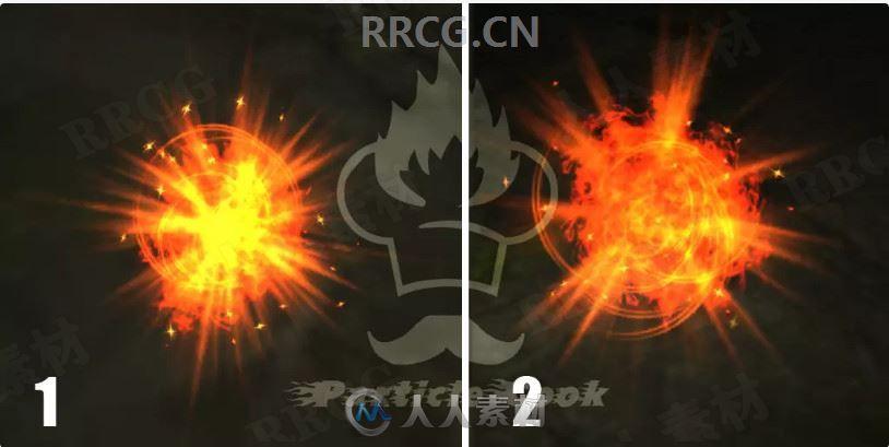 火焰与爆炸粒子效果Unity游戏素材资源