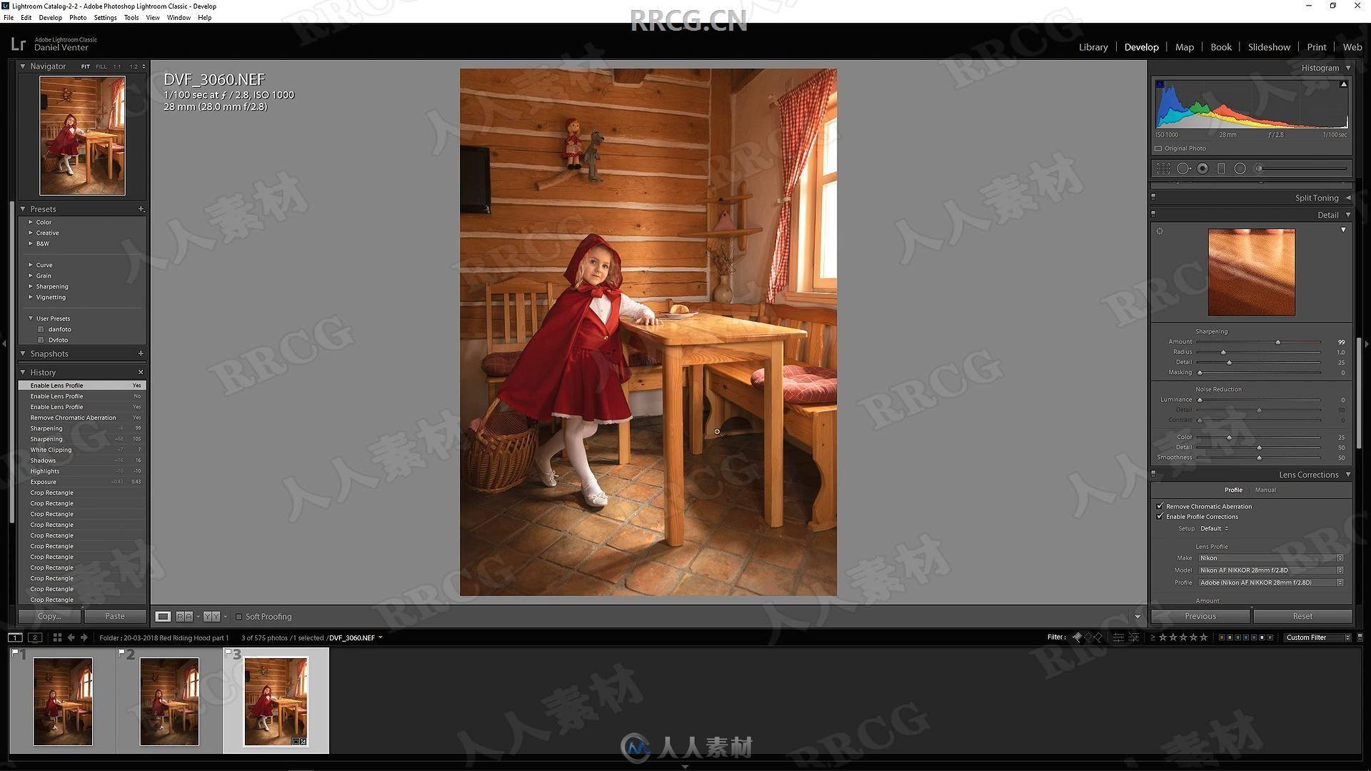 Lightroom小红帽主题人像童话效果摄影后期处理视频教程