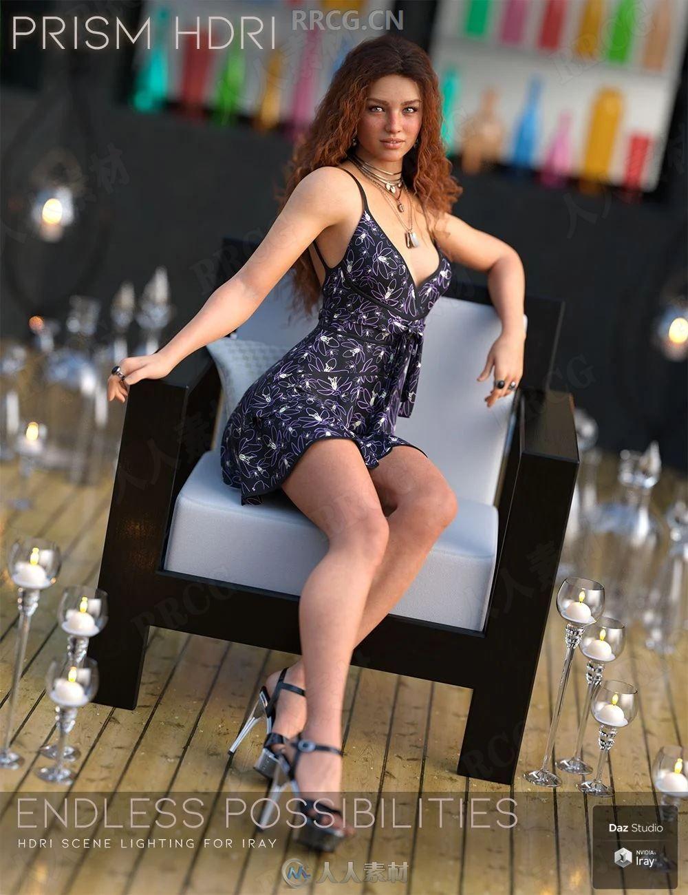 梦幻唯美点光源照明预设效果3D模型合集