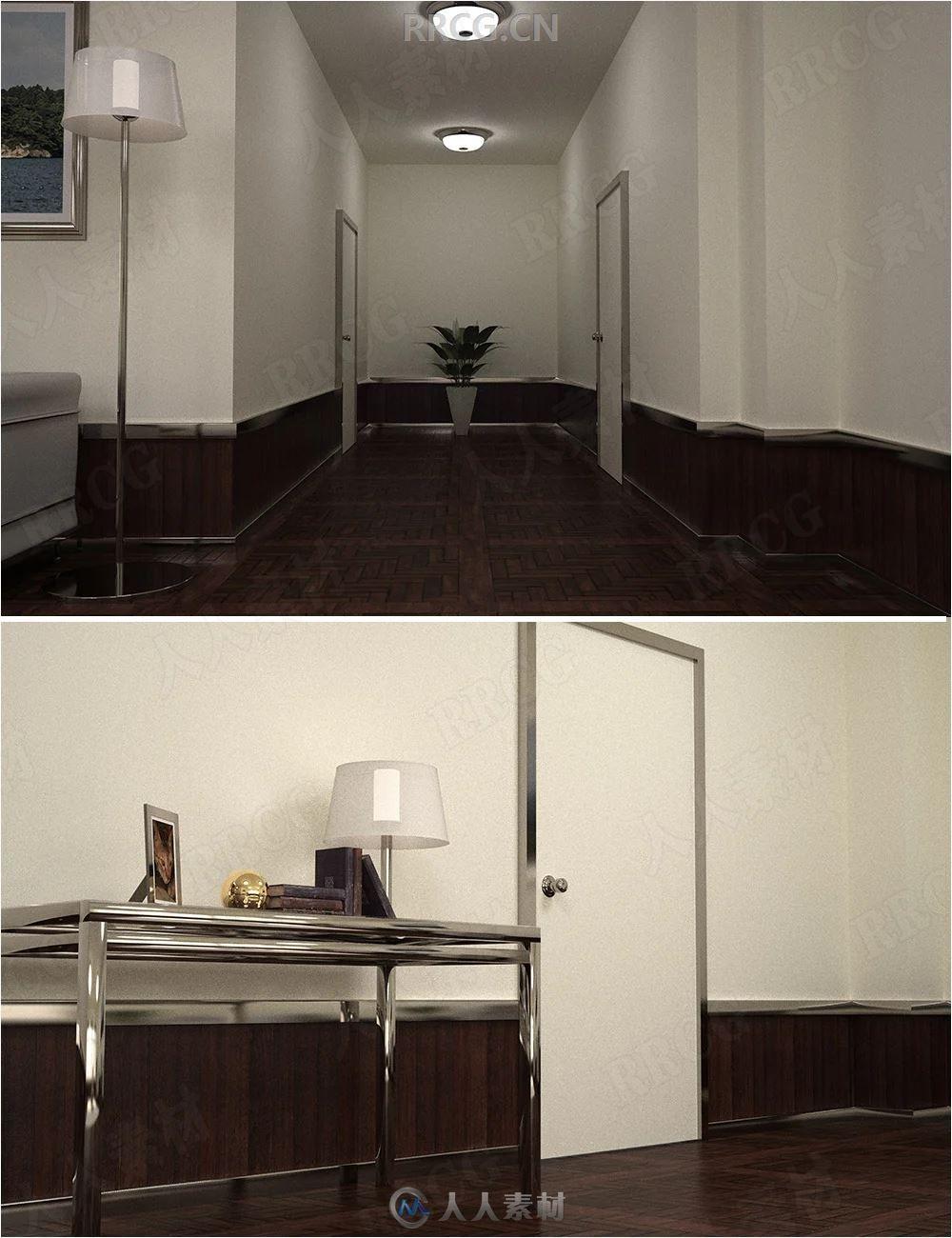 乌托邦风格现代客厅3D模型合集