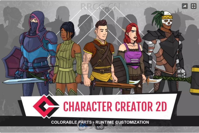 2D动画人物角色创建模板Unity游戏素材资源