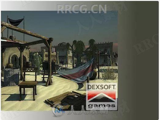 逼真沙漠村庄3D环境场景Unity游戏素材资源